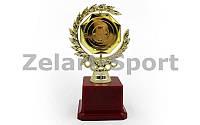 Награда спортивная с местом под жетон (пластик, h-17см, золото)