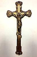 Крест длинный с распятием, 50 шт./упак. бронза
