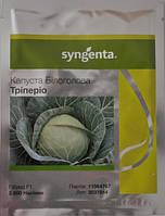Семена капусты Триперио F1 (Syngenta) 2500 семян - средне-спелый гибрид (70-75 дней), белокочанная.
