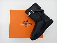 Женские кожаные угги из овчины Hermes, фото 1