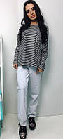 Женская трикотажная пижама. Кофта и штаны.