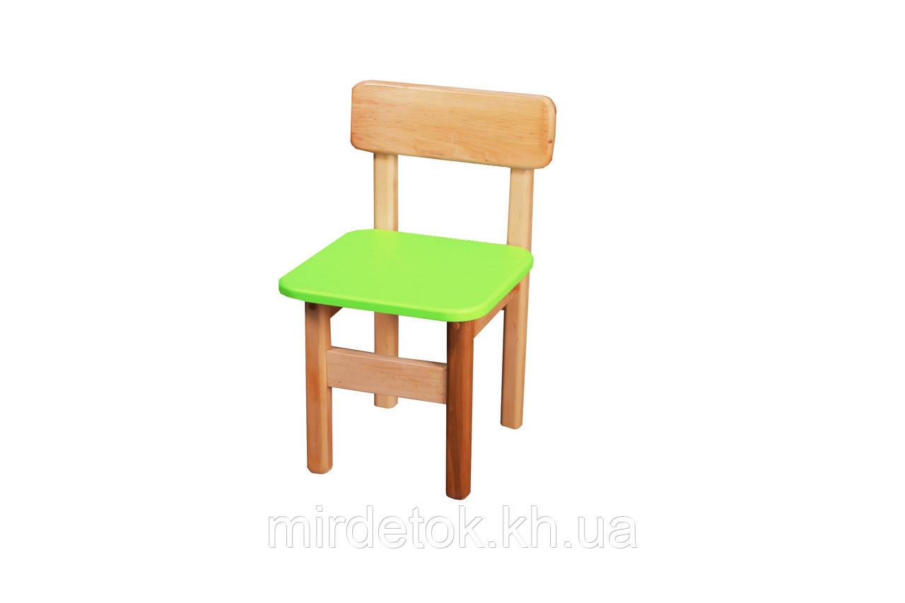 Детский стульчик салатовый Ольха Эко