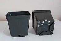 Горшок для рассады 4,00л,(18x18x18см),квадратный, черный,50 шт\уп