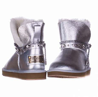 UGG Shoelace Leather Mini Glamour Silver Оригинал. ugg australia, ugg, ugg australia, угги