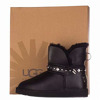 UGG Shoelace Leather Mini Glamour Black  Оригинал. ugg australia, ugg, ugg australia, угги