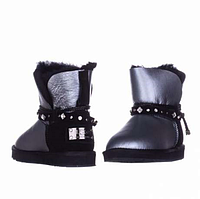 UGG Shoelace Leather Mini Glamour Siver/Black Оригинал. ugg australia, ugg, ugg australia, угги