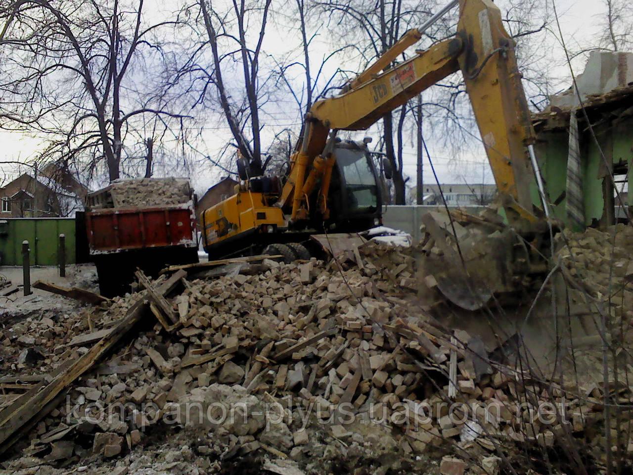Демонтаж старых домов Снос старого дома