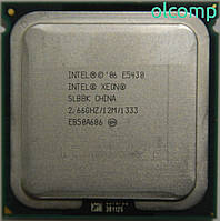 Intel Xeon E5430 (SLBBK, 12M Cache, 2.66 GHz, 1333 MHz FSB) +перехідник