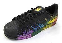 Кроссовки Adidas Superstar черные унисекс (р.38)