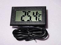 Цифровой термометр LCD (ЖК) -50+110 грд чёрный