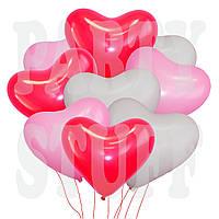 Воздушные шарики Gemar Сердце Ассорти Пастель 17' (44 см), 50 шт