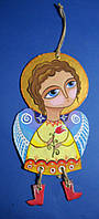 Ангел с цветком. Ручная роспись.