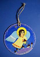 Ангел с фонариком. Ручная роспись.