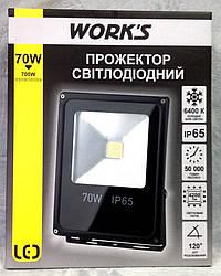 Прожектор Светодиодный LED WORK'S 70W, гарантия 2 ГОДА!!!