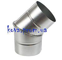 Колено (отвод) угол 45 градусов из нержавеющей стали AISI430 сборное