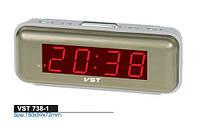 Часы  настольные  электронные с будильником VST-738-1(красная подсветка)  .dr