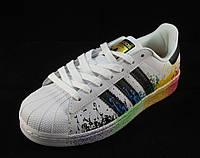 Кроссовки женские Adidas Superstar белые (р.36)