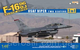 F-16 DG/DJ Block 40/50 USAF Viper Two Seaters [2in1] 1/48 KINETIC 48005
