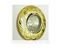 Точечный светильник Feron DL 2005 жемчужное золото-серебро, фото 1