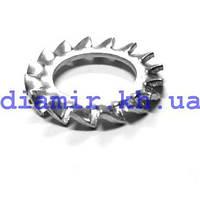 Шайба стопорная с наружными зубьями ф3 DIN 6798А цб