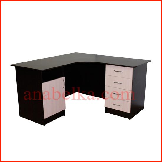 Стол  угловой с двумя тумбами ОН - 64/1 (Ника)