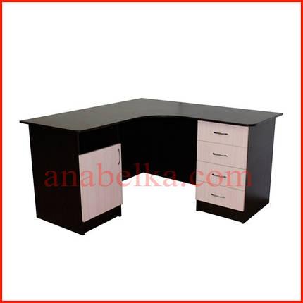 Стол  угловой с двумя тумбами ОН - 64/1 (Ника), фото 2