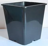 Горшок для рассады 5,60л,(20x20x23см),квадратный, высокий, черный, 50 шт\уп