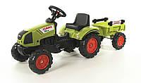 Трактор педальный с Прицепом Claas Arion Falk  зеленый
