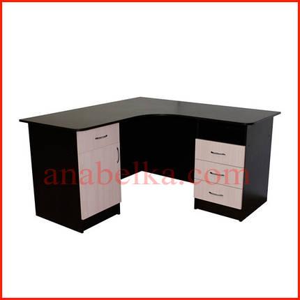 Стол  угловой  с ящиками  ОН - 66/1 (Ника), фото 2