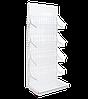 Торговый металлический  стеллаж с сетчатыми корзинами 2350х950х530