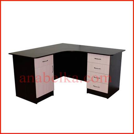 Стол  угловой на две тумбы  ОН - 67/1 (Ника), фото 2