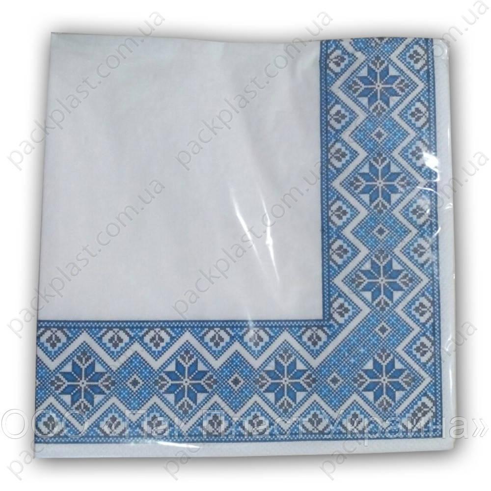 Салфетка бумажная Вышиванка 20шт/уп