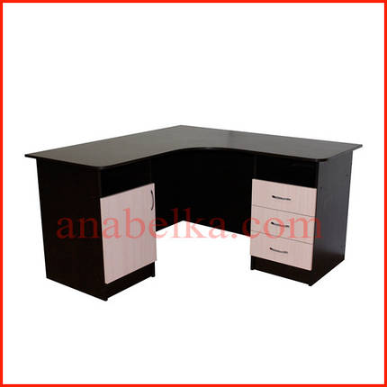 Стол  угловой  с дверцей и ящиками  ОН - 69/1 (Ника), фото 2
