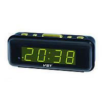 Часы настольные электронные  с будильником VST-738-2 (зеленая подсветка)   .dr