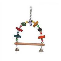 """Іграшка Montana Cages H77116 """"Гойдалки-арка дерев'яні"""" для папуг 16 см/3 см/25 см"""