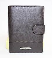 Классическое мужское вертикальное портмоне TAILIAN коричневого цвета