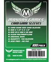 Протекторы (кармашки) Mayday Card Game (63,5 мм х 89 мм)  (Card Game sleeves (63,5 мм х 89 мм))