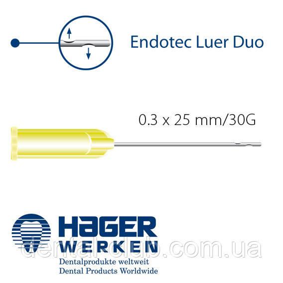 Иглы эндо для промывки каналов MIRAJECT ENDOTEC DUO, 0,4х25мм, с двумя латеральными отверстиями, Германия - Dental-Club в Киеве