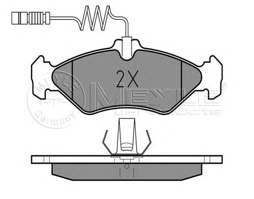 Колодки тормозные (задние) MB Sprinter 208-316 96- (малая) Meyle