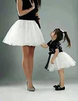 Набор мама и дочка платье фатин и паетки