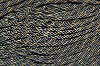 Канат декоративный 6мм (т) (100м) т.серый+золото, фото 1