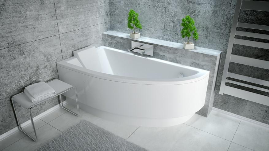 Акриловая ванна Besco Praktika 150x70 R смеситель для воды и фильтра купить