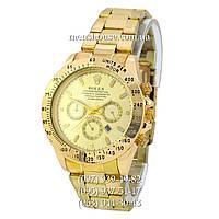 Бюджетные часы Rolex Cosmograph Daytona Date All Gold
