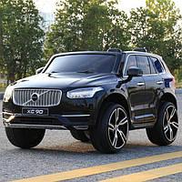 Детский электромобиль VOLVO XC 90 VIP: 8 км/ч, кожа, покраска, EVA, 2.4G -Черный (6631237846)-купить оптом