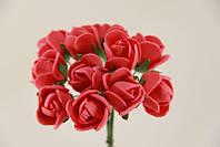 Розочка из фоамирана красная