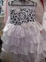 Праздничное платье для девочки Белое и Кремовое