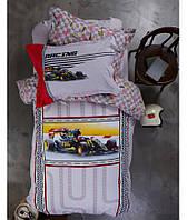 Постельное белье Karaca Home - Racing 2017-1 red ранфорс подростковое