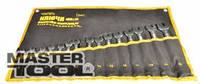 MASTERTOOL Ключи рожково-накидные набор Ключи рожково-накидные набор 15 шт (6-19 & 22), Арт.: 72-0115