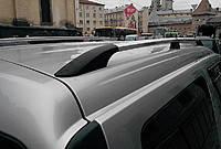 """Рейлинги Тур. тип - Premium Dacia Logan MCV 2006-2014  Пластиковые ножки, цвет """"Хром"""""""