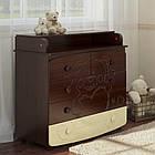 Комоды пеленаторы Prestige 6 с мишкойBaby Dream, фото 3